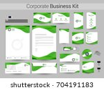 white corporate identity with... | Shutterstock .eps vector #704191183