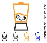 bitcoin blender icon. vector... | Shutterstock .eps vector #704193520