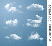 vector clouds. set of... | Shutterstock .eps vector #704195803