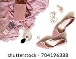 beauty   fashion blog concept.... | Shutterstock . vector #704196388