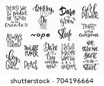 lettering photography overlay... | Shutterstock .eps vector #704196664