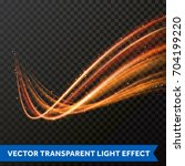 light line gold swirl effect.... | Shutterstock .eps vector #704199220
