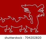 chinese new year  lunar new... | Shutterstock . vector #704202820