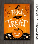 trick or treat halloween... | Shutterstock .eps vector #704205640