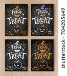 trick or treat halloween... | Shutterstock .eps vector #704205649
