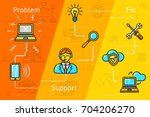 vector banner about support ... | Shutterstock .eps vector #704206270