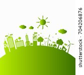 green ecology city... | Shutterstock .eps vector #704206876