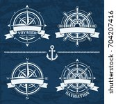 nautical design emblems and... | Shutterstock .eps vector #704207416