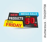 black friday sale poster ... | Shutterstock .eps vector #704209708