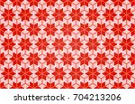 seamless pattern with xmas... | Shutterstock .eps vector #704213206