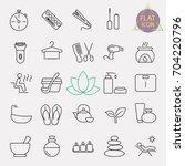 beauty line icon set | Shutterstock .eps vector #704220796