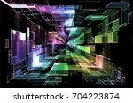 futuristic digital technology