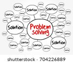 problem solving aid mind map... | Shutterstock .eps vector #704226889