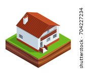 isometric concept of building a ...   Shutterstock .eps vector #704227234