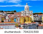 lisbon cityscape with national...   Shutterstock . vector #704231500