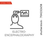 electroencephalography thin... | Shutterstock .eps vector #704232658