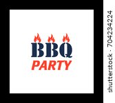 distressed bbq colorful icon on ...