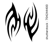tribal tattoo art designs.... | Shutterstock .eps vector #704244400