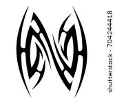 tribal tattoo art designs.... | Shutterstock .eps vector #704244418