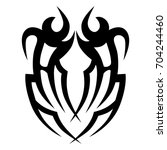 tattoo tribal vector design.... | Shutterstock .eps vector #704244460