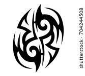 tattoo tribal vector design.... | Shutterstock .eps vector #704244508