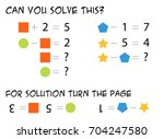 mathematical riddle for... | Shutterstock .eps vector #704247580