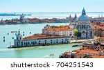aerial panoramic view of venice ... | Shutterstock . vector #704251543