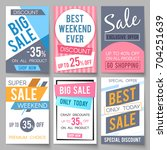 sale posters vector template... | Shutterstock .eps vector #704251639