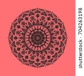 beautiful circular ornament in... | Shutterstock . vector #704263198