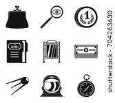 fee for pleasure icons set.... | Shutterstock .eps vector #704263630