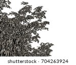 3d rendering of a silver tree... | Shutterstock . vector #704263924