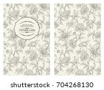 botanical cover design with... | Shutterstock .eps vector #704268130