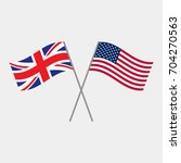 british and american flags ... | Shutterstock .eps vector #704270563