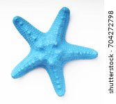 blue starfish isolated on white ... | Shutterstock . vector #704272798