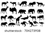 zoo animals collection   vector | Shutterstock .eps vector #704273938