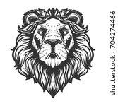 lion head anfas.vector... | Shutterstock .eps vector #704274466