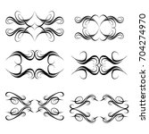 decorative monograms and... | Shutterstock .eps vector #704274970