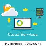cloud services design | Shutterstock .eps vector #704283844