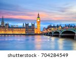london skyline with big ben and ... | Shutterstock . vector #704284549