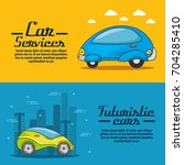 futuristic and modern car design | Shutterstock .eps vector #704285410