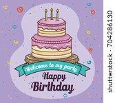 happy birthday cake design