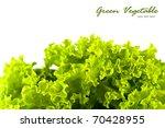Green Salad Vegetable On White...