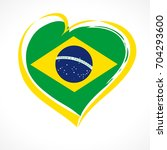 Love Brazil Emblem Colored....
