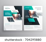geometric business brochure... | Shutterstock .eps vector #704295880