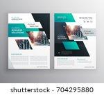 geometric business brochure... | Shutterstock .eps vector #704295880