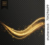transparent golden light effect ... | Shutterstock .eps vector #704296699