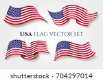 usa flag vector illustration.... | Shutterstock .eps vector #704297014