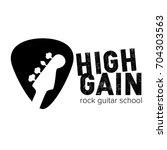 high gain rock guitar school... | Shutterstock .eps vector #704303563