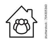 family house linear icon. thin...   Shutterstock .eps vector #704305360
