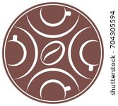 vector icon of stylized coffee